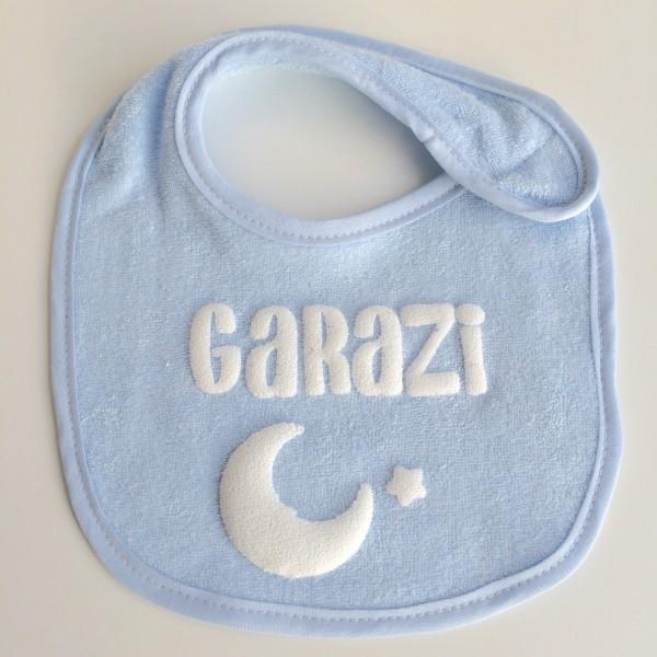 Babero azul personalizado