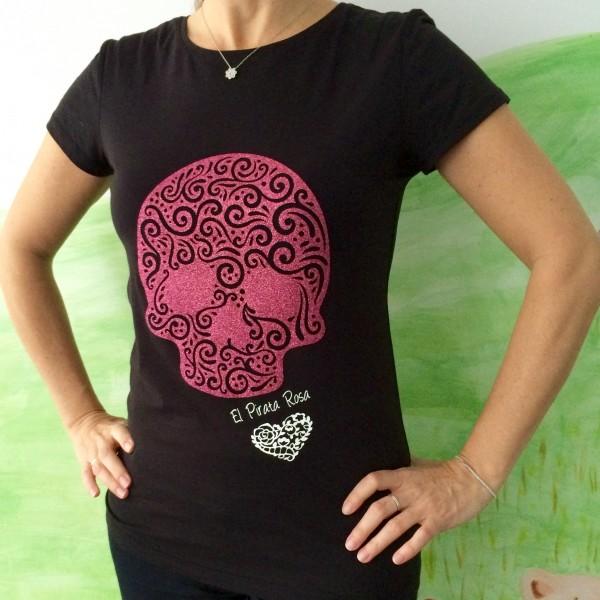 Camiseta colección Pirata Rosa – Calavera