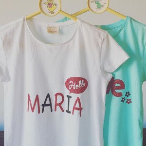 Camiseta personalizada niña - María