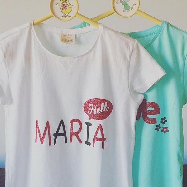 Camiseta personalizada niña – María